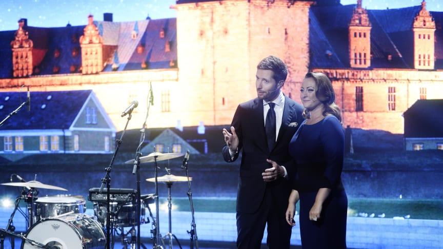 Værtsparret ved Kronprinsparrets Priser 2015 på Kulturværftet i Helsingør. Fotograf: Jakob Boserup