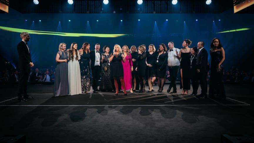 "Christel Ericson med team tar emot priset ""Quality Hotel of the Year"" (Foto: Erik N.H. Krafft)"