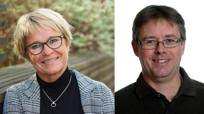 Yvonne Westerlund, affärsutvecklare Riksbyggen och Mikael Löthstam, kommunstyrelsens ordförande i Hudiksvall.
