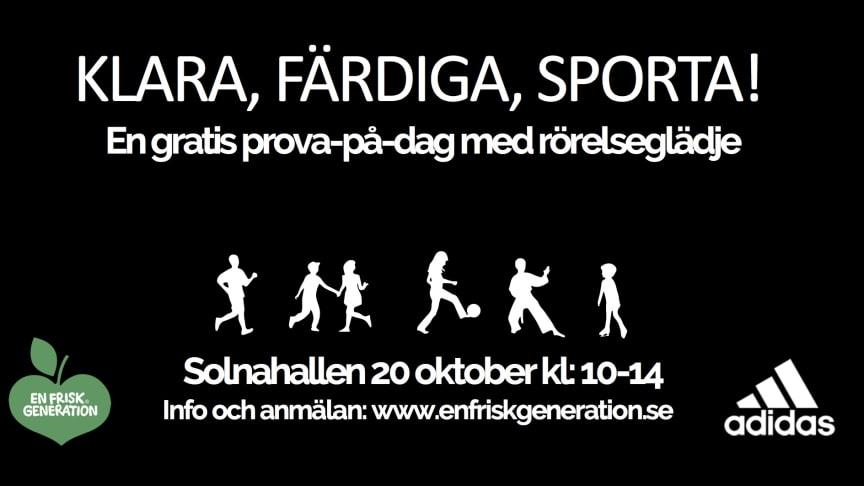 Klara Färdiga Sporta! En gratis prova-på-dag i Solnahallen