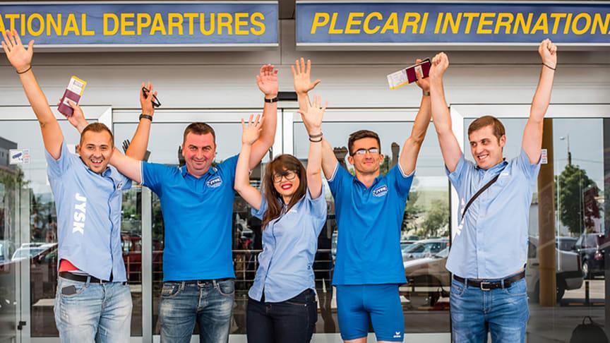 Angajații JYSK România i-au condus la aeroportul din Cluj pe Adi Tămaș și Abel Ciorap, care fac parte din delegația ce ne va reprezenta la Campionatul Mondial de Atletism din Londra, între 14 și 23 iulie.
