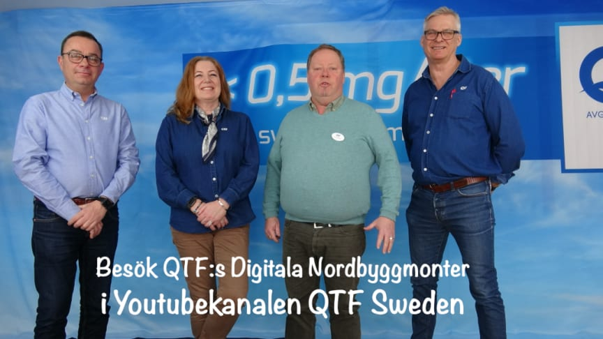 QTF:s digitala Nordbyggmonter håller öppet 24:7 hela april i Youtubekanalen QTF Sweden