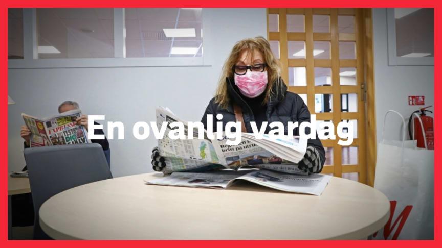 """""""En ovanlig vardag"""" samlar ögonblicksbilder från tillvaron under coronapandemin. Foto: Jeppe Gustafsson"""