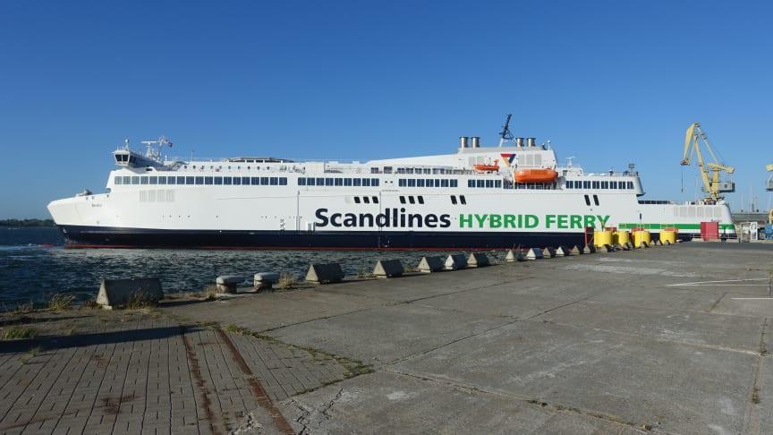 Hybridfærgen M/F Berlin atter i drift på Gedser-Rostock