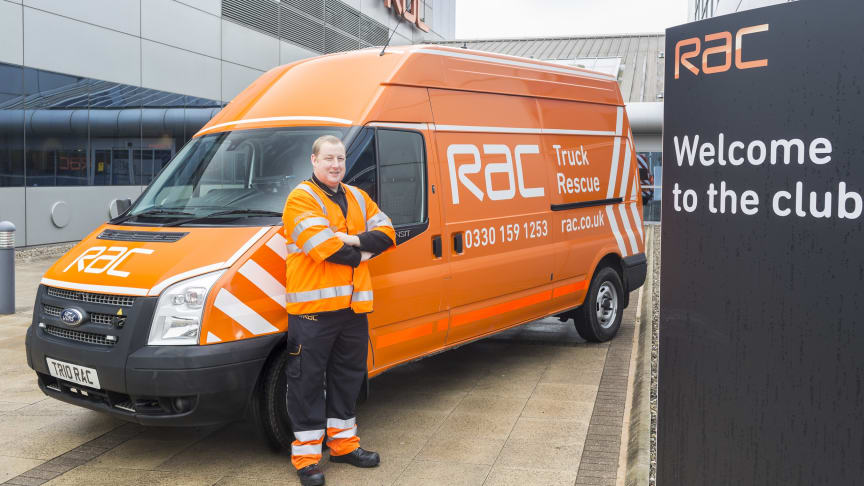 RAC Patrol Jason Brickley at the launch of the new RAC Truck Rescue Patrol