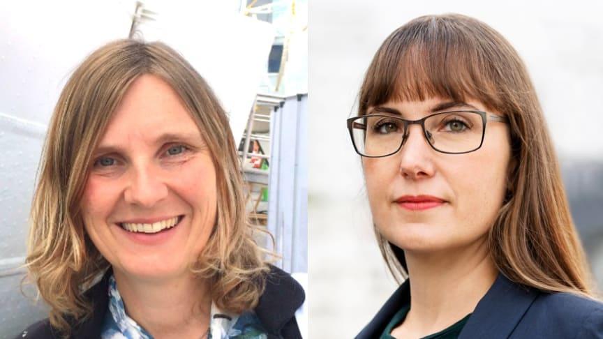 Mari-Louise Persson, energistrateg, Riksbyggen och Johanna Ode bostadspolitisk expert på Riksbyggen.
