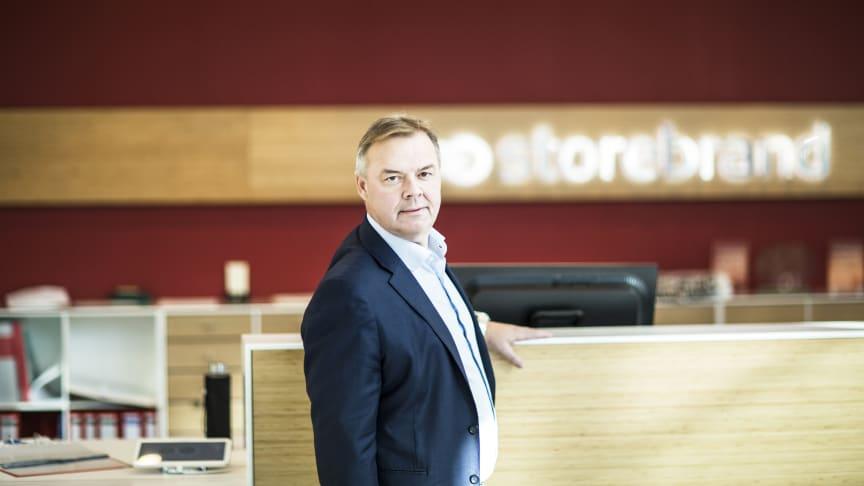 Odd Arild Grefstad, konsernsjef i Storebrand, gjør endringer i konsernorganiseringen.