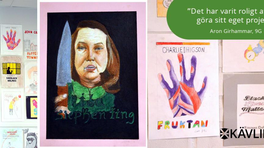 Elevernas alternativa bokomslag visas upp på skolan för andra året i rad.
