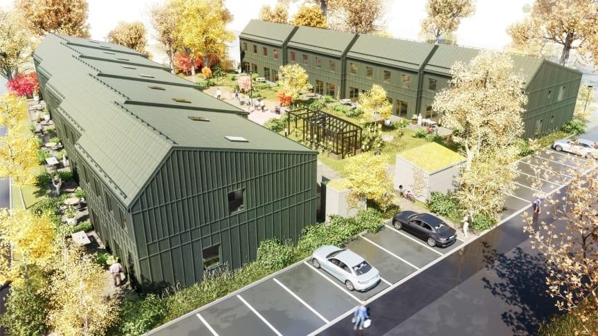 18 radhus i Brf-form planeras i Hjärup
