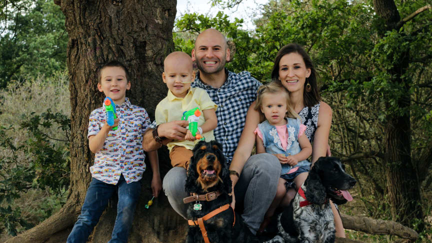 Mielan, Luwan  and Lillah with  mum Felicia &  Dad Barry and their lovely dogs.
