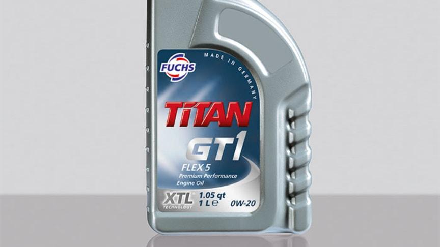 TITAN GT1 FLEX 5 SAE 0W-20 – En motorolje med lav viskositet for flere ulike bilmerker