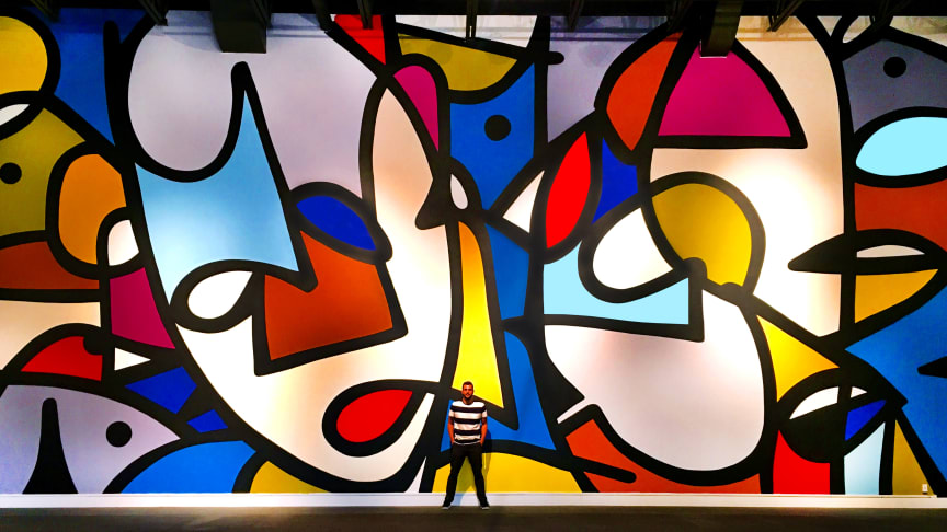 Abstract, expressionistic art of JM Rizzi to No Limit