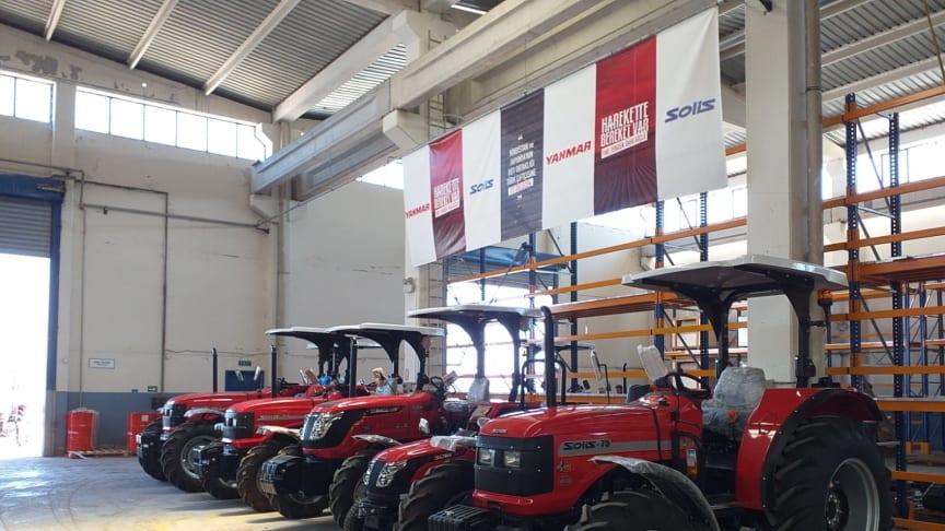 Solis tractors inside the Solis Traktör Sanayi A.Ş. tractor factory