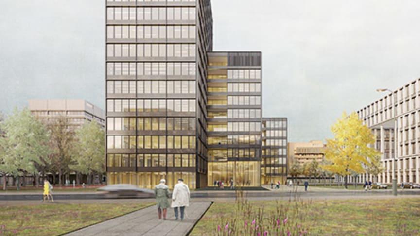 Die HANSAINVEST Real Assets GmbH plant in Hamburg den Neubau einer Büroimmobilie. Foto: Barkow Leibinger Architekten, Berlin