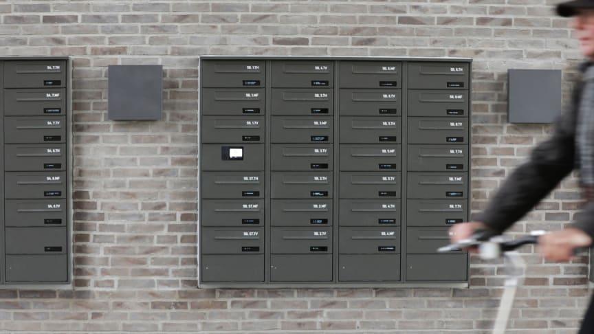 Farven på den indbyggede model af myRENZbox e-Line er nøje afstemt efter mursten og lamper for at underbygge helhedsbilledet af et gennemtænkt kvalitetsbyggeri, hvor alle detaljer spiller sammen.