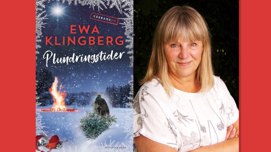 Julgranskrig och småstadscharm i Ewa Klingbergs nya mysdeckare