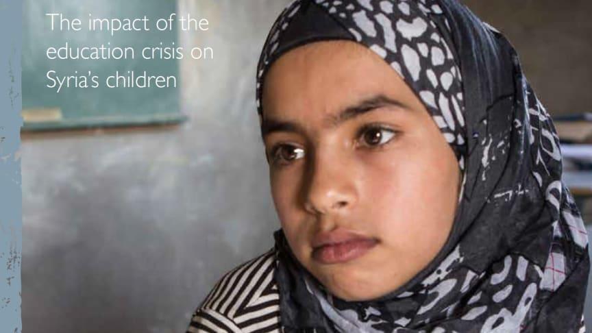 Tusentals skolor förstörda i Syrien