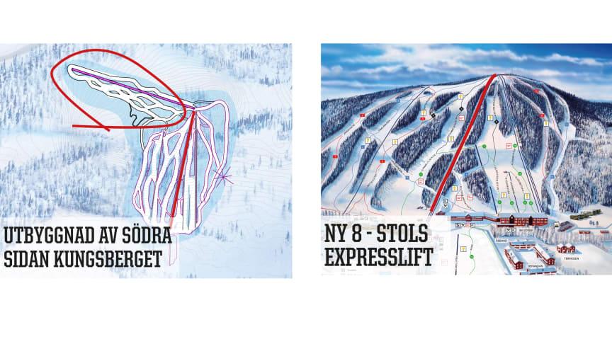 Kungsberget bygger 8-stols expresslift, utökar skidområdet och miljoninvesterar i snösystemet.