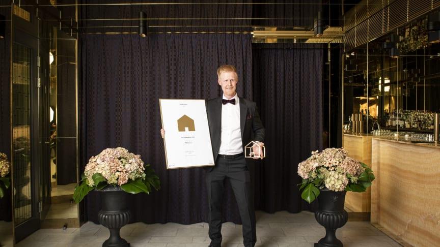 Martin Drotz vinnare av Guldhemmet i kategorin Årets husmäklare 2020