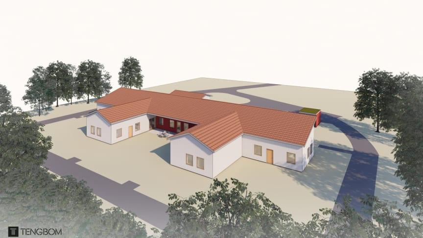 Ett nytt LSS-boende ska byggas i Härtsöga. Bild: Tengbom