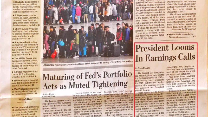 A snapshot of my crumpled copy of the WSJ story, which is the subject of this blog post