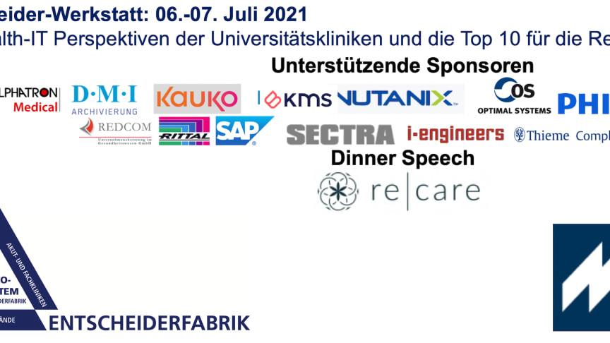 06.-07. Juli Entscheider-Werkstatt: Die Health-IT Perspektiven der Universitätskliniken und die Top 10 für die Regelversorger