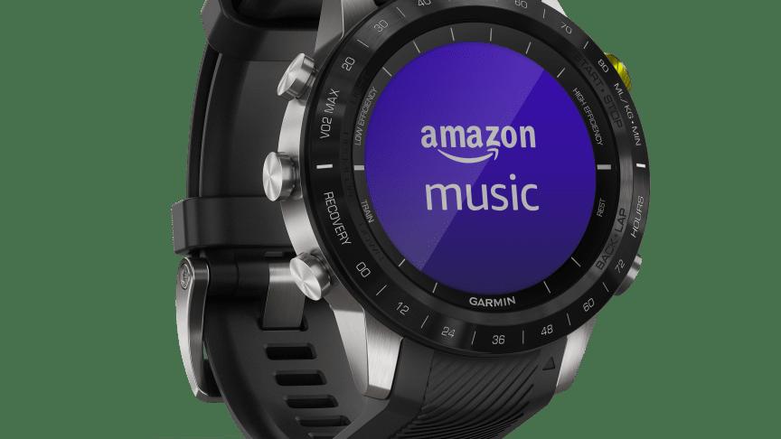 Amazon Music ist jetzt auf kompatiblen Garmin-Wearables wie der MARQ und dem Forerunner 245 M verfügbar.