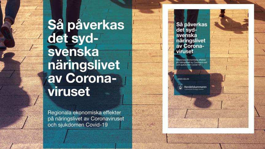 Sydsvenska Handelskammaren har fortsatt fokus på coronavirusets spridning och dess ekonomiska konsekvenser.