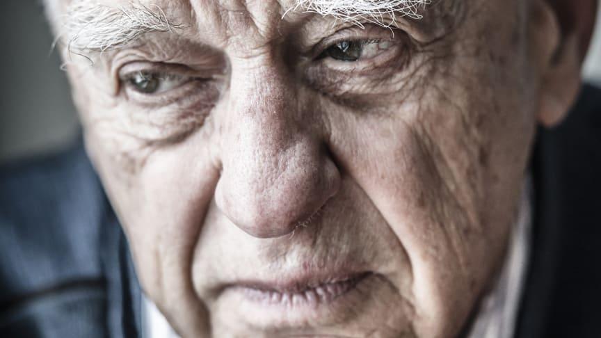 Piotr Zettinger, en av de överlevande från Förintelsen som medverkar i utställningen Speaking Memories – Förintelsens sista vittnen på Malmö Museer.