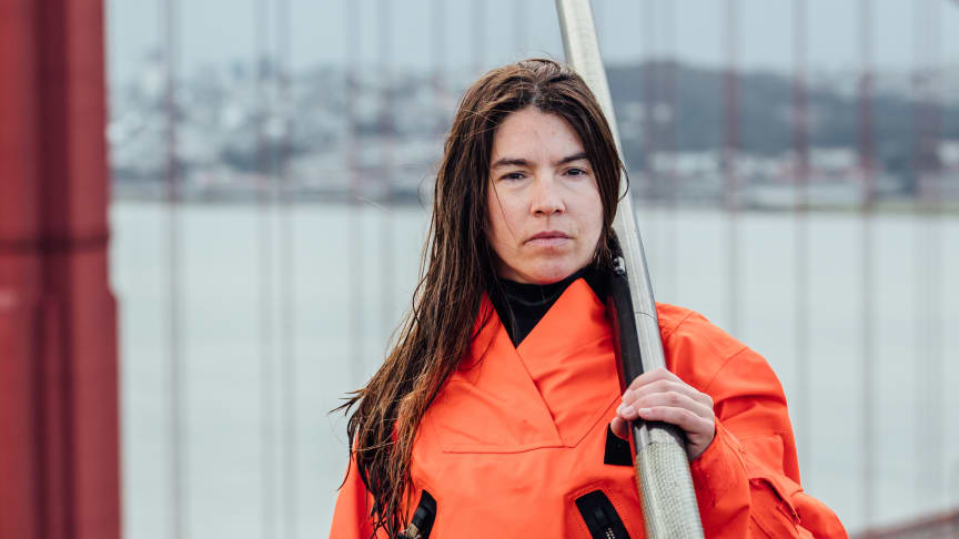 Lia Ditton is attempting to become the first woman and only the third person to row solo across the North Pacific. Photo credit: Christian Agha