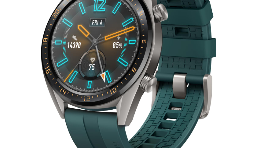 """Huawei Watch GT Active Edition är försedd med en 1,39"""" AMOLED HD-pekskärm med en upplösning på 454 x 454 pixlar, medan Elegant Edition har en likadan skärm i 1,2"""" utförande, med en upplösning på 390 x 390 pixlar."""