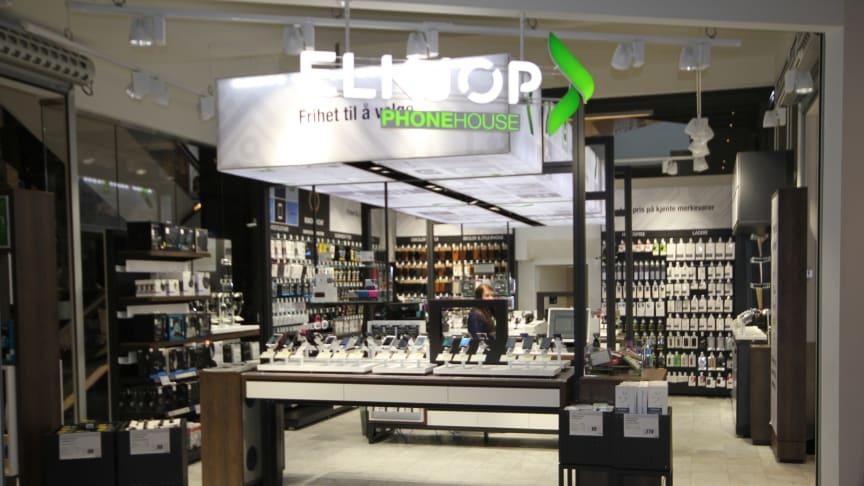 Elkjøps Phonehouse-butikker blir nå kontantfrie. Foto: Elkjøp Norge