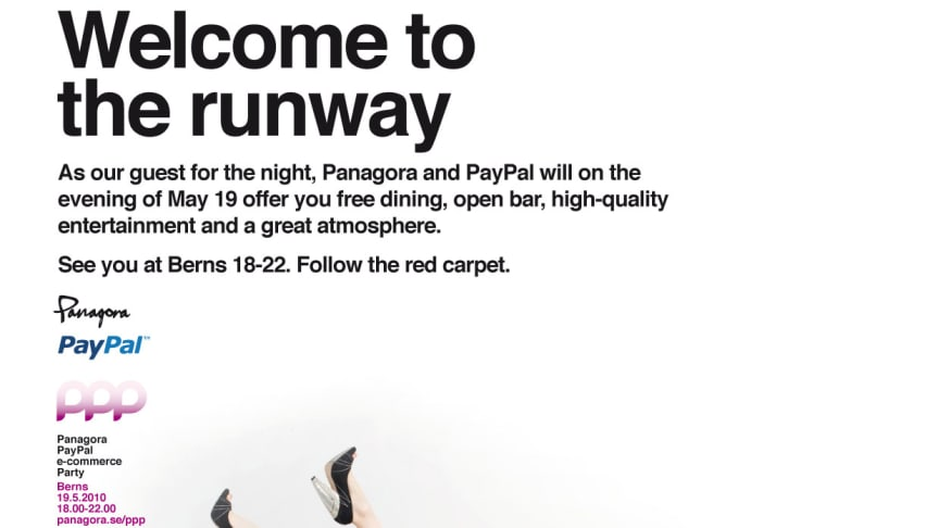 Inbjudan till Panagoga PayPal e-commerce Party 2010