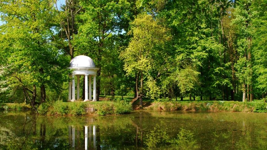 Auwald in Leipzig - Diana-Tempel im Schlosspark Lützschena - Foto: Andreas Schmidt