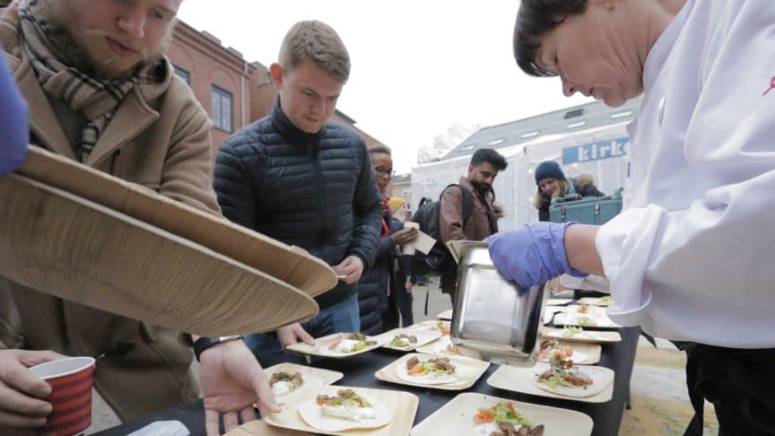 SiO valgte 14. november som er nasjonal restedag som startskudd for å sette sau på menyen. Nesten 700 møtte opp.