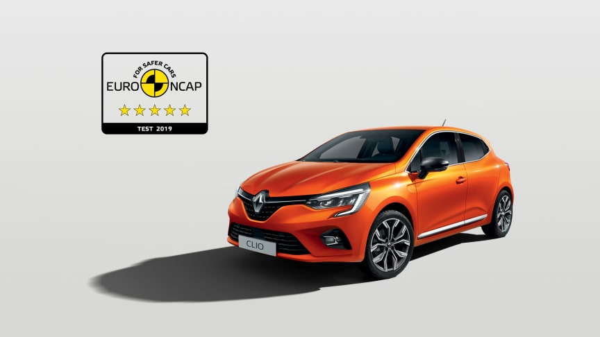 Nya Renault Clio - 5 stjärnor i EuroNCAP 2019