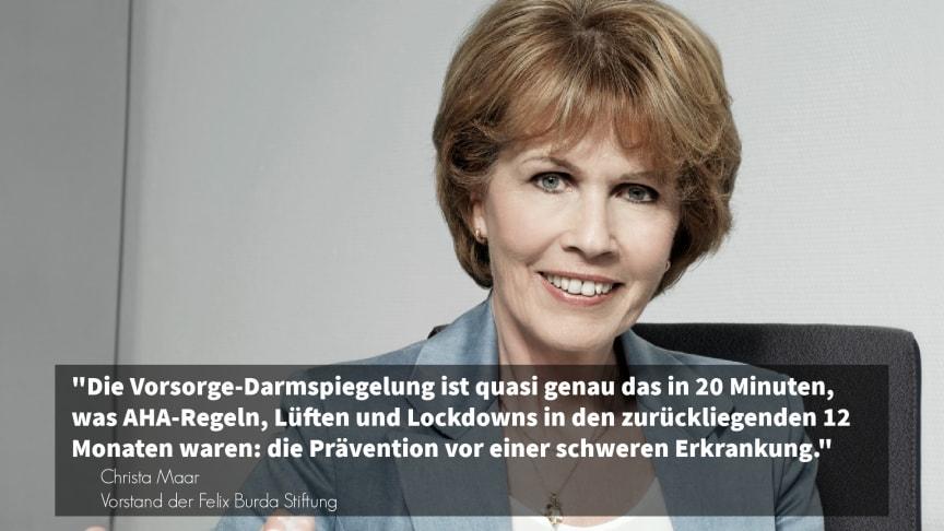 Christa Maar von der Felix Burda Stiftung