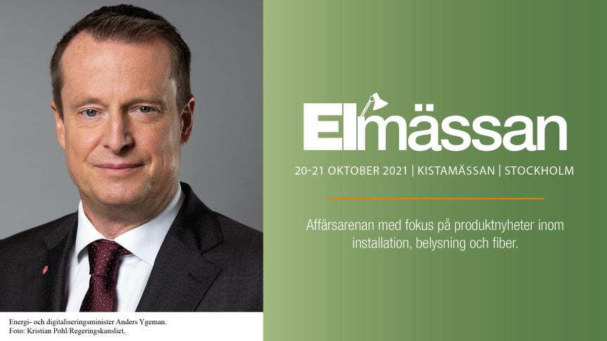 Anders Ygeman ny talare på Elmässan Stockholm