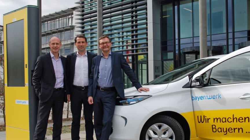 Bayernwerk stellt Firmenflotte auf E-Fahrzeuge um