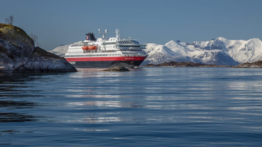 LNG MEETS BATTERIES: MS Polarlys is one of the Hurtigruten ships that will be upgraded to secure even more sustainable operations. Photo: CARSTEN PEDERSEN/Hurtigruten
