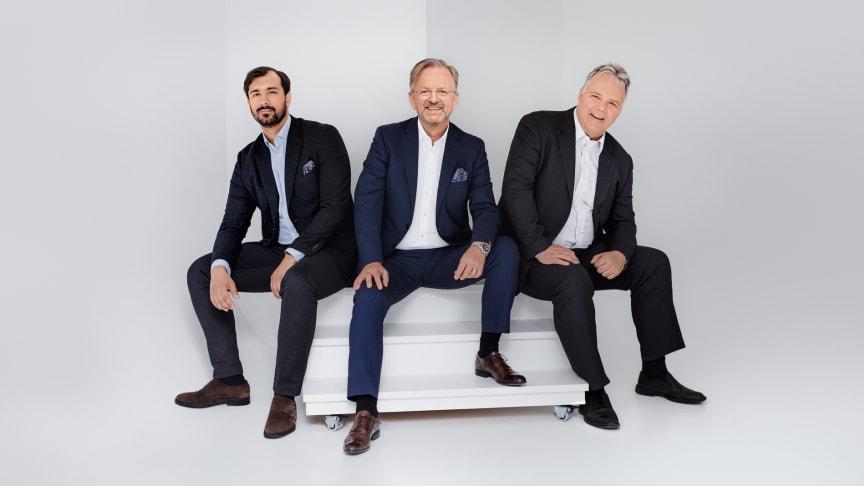 Pensures grundare: Ervin Fazlic,  Mikael Claesson och Lars-Ola Hahlin