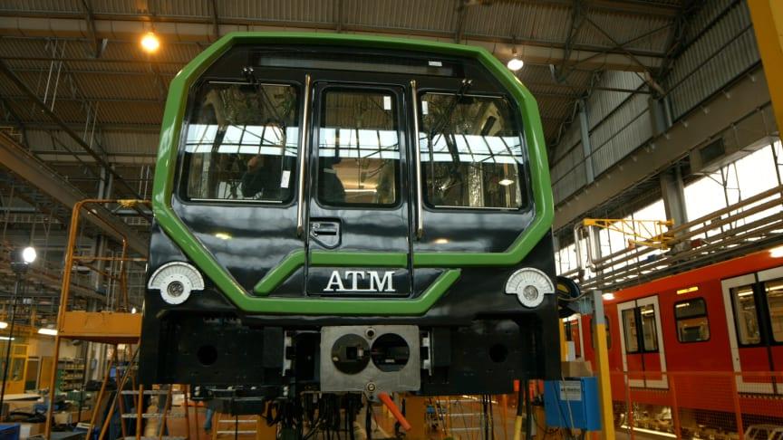 Leonardo metro trains, destined for Milan Metro Line 2
