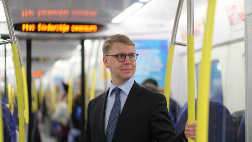 Kristoffer Tamsons (M), trafikregionråd och ordförande för SL.
