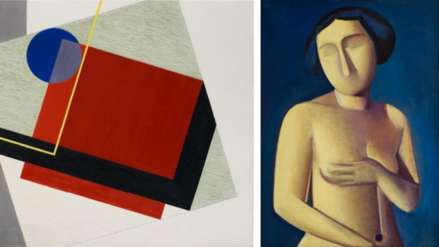 """Erik Olsons """"Carré Rouge (Röd kvadrat)"""", för 8 427 800 SEK, vilket är ett nytt världsrekord för konstnären."""