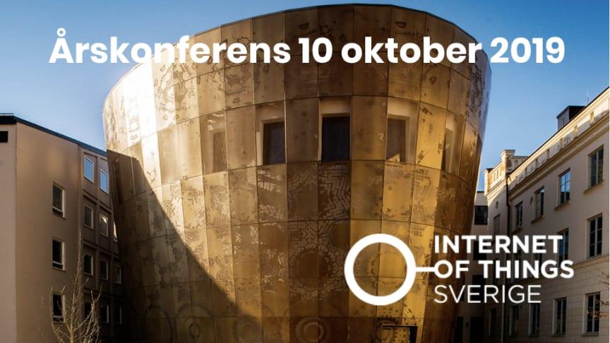 IoT Sveriges årskonferens 10 oktober 2019 på Humanistiska teatern i Uppsala