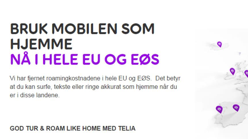 Nordmenns bruk av mobildata i EU er firedoblet