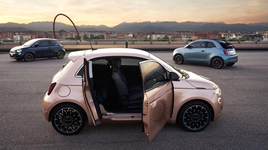 Fiat 500 er DK's mest solgte elektriske bybil og kan nu leases med ubegrænsede km fra 3.795 kr./md.