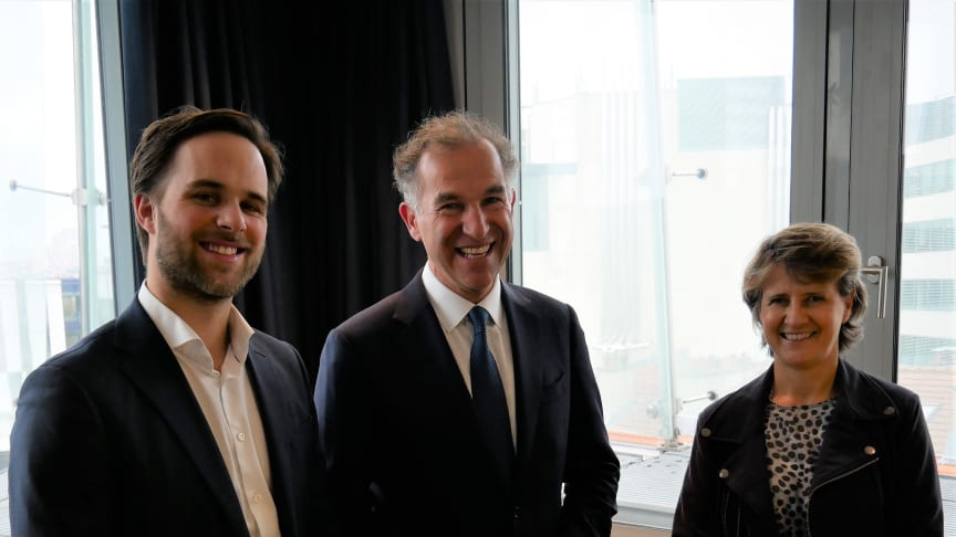 Today, Håvard Haukeland, co-founder and CEO of Spacemaker, Pascal Minault, President of Bouygues Immobilier and Nathalie Watine, Bouygues Immobilier's Executive Director for Digital Transformation signed a partnership agreement.