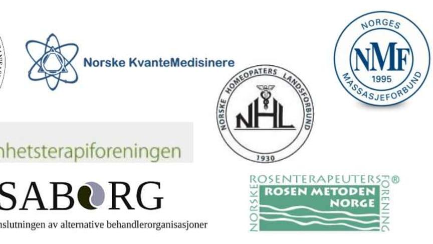 Logo fra de 7 organisasjonene som står bak fellesuttalelsen