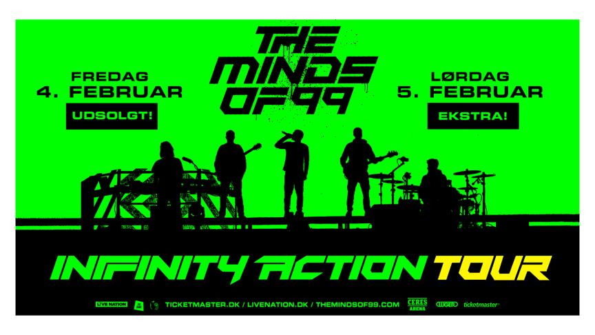 The Minds of 99 triumferede i Parken lørdag aften. I dag annoncerer de ekstrakoncert i Aarhus!